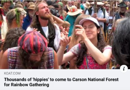 Thousands of 'hippies' to come to Carson National Forest for Rainbow Gathering