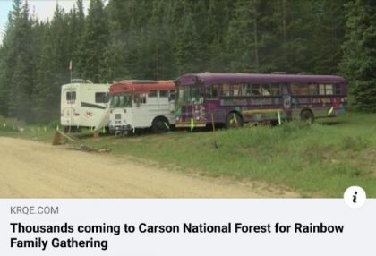 Thousands coming to Carson National Forest for Rainbow Family Gathering NEW MEXICO NEWS
